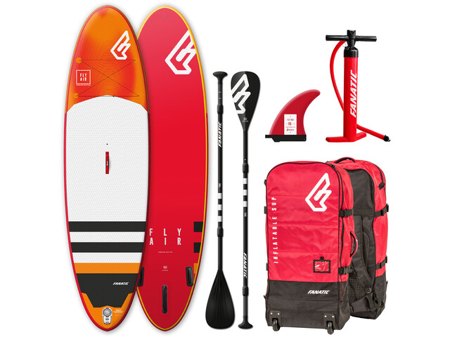 """Fanatic Fly Air Premium Paquete 10'4"""" Tabla Stand Up Inflable con Palas y Bomba"""